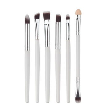 2017 6Pcs Cosmetics Blusher Eyebrow Eyeshadow brush Professional Makeup brushes Sets Makeup tools Pinceis de maquiagem White