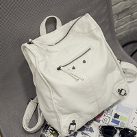 Hot Deal College On Sale Back To School Casual Stylish Comfort Rinsed Denim Backpack [8226395079]