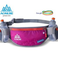 AONIJIE Lightweight Men Women Waist Pack Outdoor Sports Cycling Fanny Pack Travel Marathon Running Hydration Belt Bottle Bag