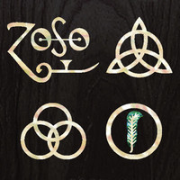 4 symbols Led Zeppelin Inlay Stickers Decals