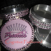 Ultimate Princess Crown Swarovski Crystals 4 Piece Grinder Herb Spice Aircraft Grade Aluminum C.N.C from Cognitive Fashioned