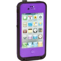 New Waterproof Shockproof Dirtproof Snowproof Protection Case Cover for Apple Iphone 4 4S (Purple)