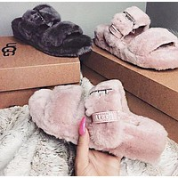 UGG new plush hollow slippers boots Shoes(adjustable)