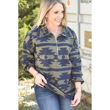 Sweet Serenity Pullover - Olive