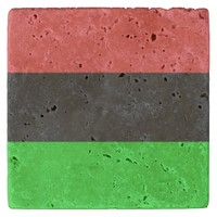 African American Flag Totally Stone Coaster