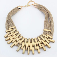 Brand Design Fashion Necklace Charm Chain Statement Bib Necklace Choker Gold Plated Necklaces Jewelry For Women 2015 New