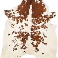 Safavieh Cow Hide COH211A Brown / White Rug