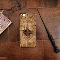 Harry Potter Inspired Marauder's Map, Custom Phone Case for iPhone 4/4s, 5/5s, 6/6s, 6+/6s+ and iPod Touch 5