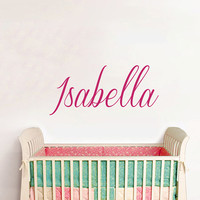 Personalized Name Wall Decal - Baby Name Decal - Nursery Name Decal - Boys Wall Decals - Girls Name Decal - Wall Vinyl Decal Name AN625
