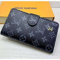 LV Louis Vuitton Women Leather Print High Quality Cell phone sets