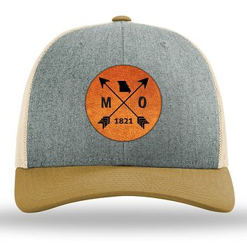 Missouri State Arrows - Leather Patch Trucker Hat