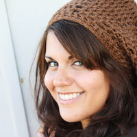 Beret Slouchy Hat-Coffee- Brown