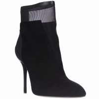 Elie Tahari Naila Mesh Ankle Fashion Boots - Black
