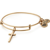 Cross Charm Bangle
