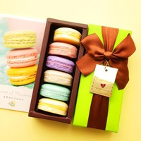 Hand-Made France Macarons Coconut Oil Soap Gift Box 6 pieces/box Random Color