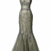 KCWM1523 Sage Lace Mermaid MOB Gown by Kari Chang Eternal