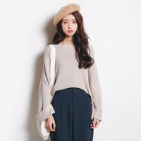 Knit Tops Winter Korean Bottoming Shirt Sweatear Loudspeaker [6466144900]