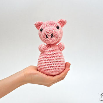 Pig Stuffed Animal, Crochet Pig, Pig Plush, Pig Plushie, Pig Crochet Toy, Pig Amigurumi, Pink Pig Toy
