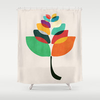 Lotus flower Shower Curtain by Budi Satria Kwan