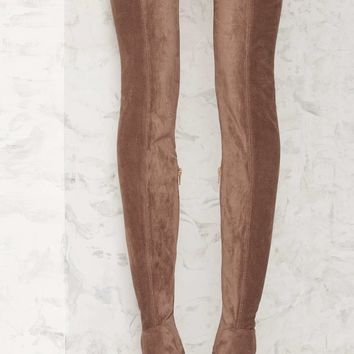 Jeffrey Campbell Perouze Thigh-High Boot - Taupe
