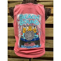 SALE Southern Chics Apparel Beach Bound Jeep Dog Comfort Colors Girlie Bright T Shirt Tank Top
