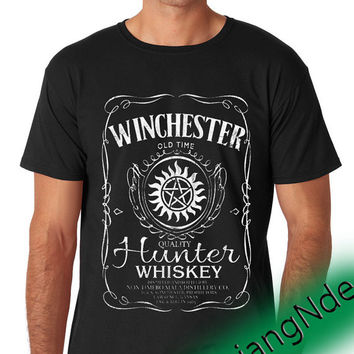 Supernatural whiskey T-shirt High Quality Design in Men's and Women's