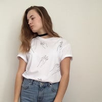 Harry Styles inspired hands t-shirt