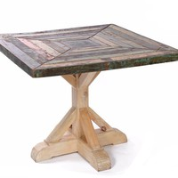 Eat off the Dining Floor Reclaimed Wood Dining Room Table by Go Home Ltd. 11540