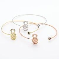 Pineapple stone bangle bracelet (3 colors)