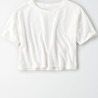AE Boxy Crop T-Shirt, Cream