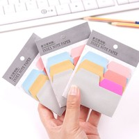1PC Sticky Post It Memo Pads Office Stationery Index Note Paper Notepad Papelaria Escolar School Supplies