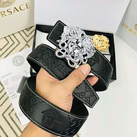 VERSACE Fashion Medusa Buckle Belt Leather Belt