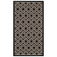 Biarritz Patio Rug - Black / Beige - Safavieh®