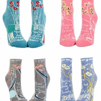The Compliment Collection: Women's Ankle Sock Gift Set (4 Pairs)