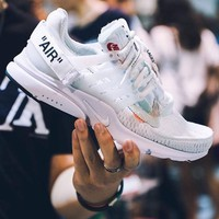 OFF-WHITE x Nike Air Presto 2.0 Trending Women Men Casual Sport Running Shoes Sneakers White