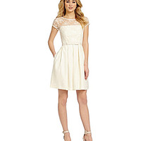 Taylor Lace-Detail Fit-and-Flare Dress - Ivory