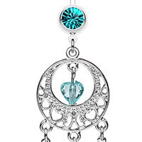 Heart Hoop Dream Catcher Belly Button Ring