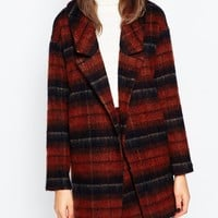 ASOS TALL Co-ord Brushed Check Jacket