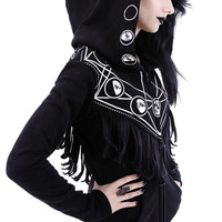 """""""MOON GEOMETRY HOODIE"""" occult blouse with pockets, oversized hood, moon phases"""