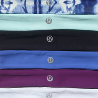Lululemon Slipless Headband NEW WITH TAGS   BLUE WHITE BLACK INKBLOT PURPLE