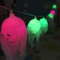 2.5m Happy Halloween Decorations Pumpkin Skull LED String Lights Horror Lantern Ghost Party Patio Home Garden Decor #A