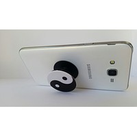 2X1 Pop Out Phone Grip and Stand,  Mobile Holder for your Phone & Tablet (Yin yang Symbol)