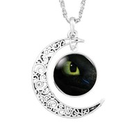 How to Train your Dragon Toothless Eye Necklace Pendant Jewelry Toy Gift Present men necklace moon chain boy girl gift children