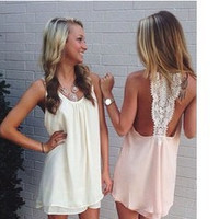 New Fashion Summer Sexy Chiffon Casual Party Evening Cocktail Short Mini Dress = 6095266051