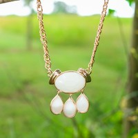 Ring It In Necklace-White