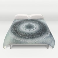 WINTER LEAVES MANDALA Duvet Cover by Nika | Society6