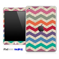 Color Vintage Chevron Pattern With Digital Camo Skin for the iPad Mini or Other iPad Versions