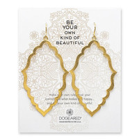 be your own kind of beautiful moroccan earrings, gold dipped - Dogeared