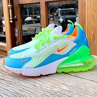 Nike Air Max 270 tide brand female half palm cushion sports shoes