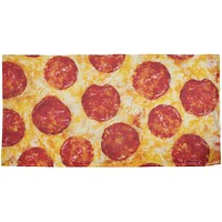 Pepperoni Pizza All Over Beach Towel